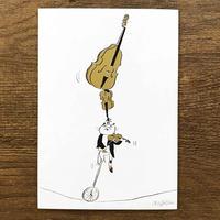 音楽サーカスはがき - Balancing|音楽雑貨