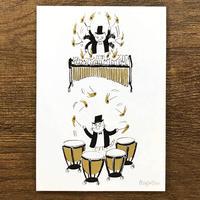 音楽サーカスはがき - Drumroll|音楽雑貨