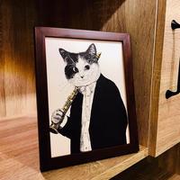 クラシックキャット肖像画 -  クラリネット|音楽雑貨