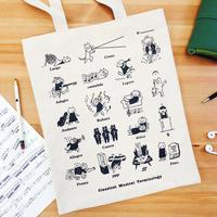 音楽トートバッグ-音楽用語|音楽雑貨