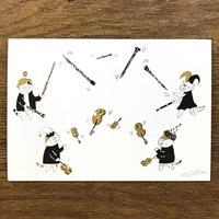 音楽サーカスはがき - Juggling|音楽雑貨