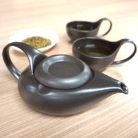 Simple&Modern瀬戸焼「茶師(急須・湯呑)」&かりがねほうじ茶 ご夫婦(2名様)向けセット【品】