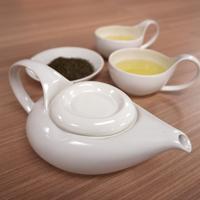 Simple&Modern瀬戸焼「茶師(急須・湯呑2個)」&深蒸し煎茶 ご夫婦(2名様)向けセット【純】