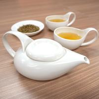 Simple&Modern瀬戸焼「茶師(急須・湯呑)」&かりがねほうじ茶  ご夫婦(2名様)向けセット【純】