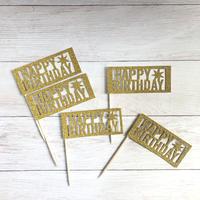 HAPPY BIRTHDAY ピック 5枚セット