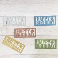 HAPPY BIRTHDAY カラー5色アソート