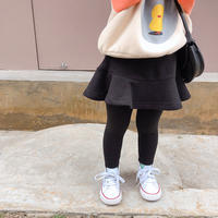 kids☺︎裏起毛デザインレギンス付スカート【ブラック】#884