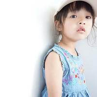 ☺︎kids☻花刺繍デニムワンピース