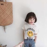 ☺︎kids兼用ok★スマイルデザインTシャツ【ホワイト】