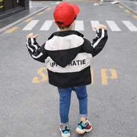 ★kidsユニセックス☻バック英字デザインジャンパー【ブラック】#391