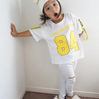 再入荷☺︎kidsユニセックス☆84ロゴ入りデザインTシャツ【ホワイト】#205