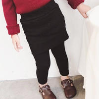 ★kids☻裏起毛レギンス付きスカート【ブラック】
