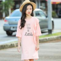 ☺︎kids☻フリル英字デザインワンピース【ピンク】#229