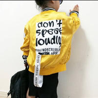 kids兼用ok☻バックプリントブルゾン【yellow】
