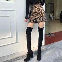 ☺︎レディース・ジュニア★レオパード柄デザインタイトスカート  #439
