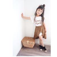 ☺︎kids☻ロゴワンピ+総レーススカート【2点セット】ブラウン