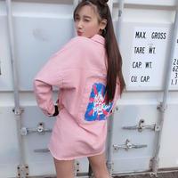 kidsユニセックス☻バックデザインパステルカラージャケット【ピンク】#481