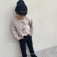 kidsユニセックス☻WOODYプリント長袖Tシャツ【ベージュ】#461