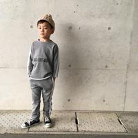 kids兼用ok☻サイドライン英字デザインセットアップ【グレー】