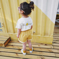 ☺︎kids兼用ok☆smileプリント半袖Tシャツ【ホワイト】