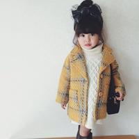 kids☻春カラーツイードデザインイエロージャケット