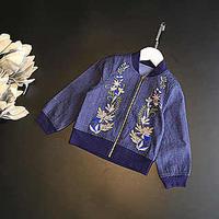 馬渡様専用☻前刺繍denim薄jacket130