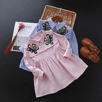 【予約】kids☻花柄 刺繍 シャツ