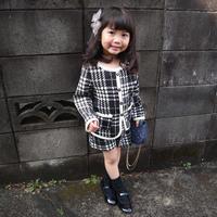 ★kids☻チェック柄ジャケット+ショートパンツセット   #01
