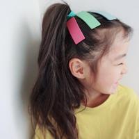 【kids★mama】カラフル長方形デサインぱっちんピン5個セット【小サイズ7×2cm】