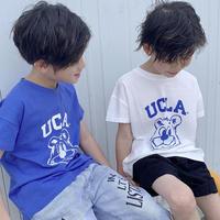 kidsユニセックス☻ UCLAロゴデザイン半袖トップス【ホワイト】#551