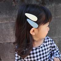 再入荷【kids★mama】カラフル水滴デザインぱっちんピン5個セット【小サイズ6.5×2.3cm】