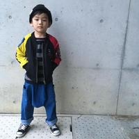 ☺︎kidsユニセックス☻袖カラー切替デザイン薄手ジャケット