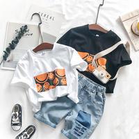 kidsユニセックス☻ニコちゃんボックスデザイン半袖Tシャツ【ホワイト】 #590