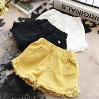 ☺︎kids☻裾フリンジシンプルショートパンツ【ブラック】#294