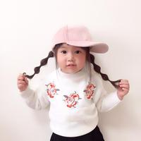 kids☻花刺繍ニットトップス