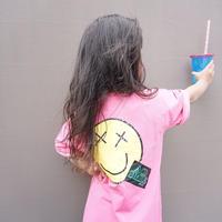 再入荷☺︎kids★スマイルプリントデザインBIGTシャツ【ピンク】#81