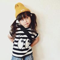 ☺︎kids兼用ok★プリントデザインボーダートップス