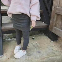 ★kids☻レギンス付きスカート【ダークグレー】