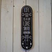 スケートボード クロック 時計 壁掛け時計 ブラック