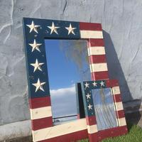 USA フラッグフレーム 星条旗 ミラー サイズL
