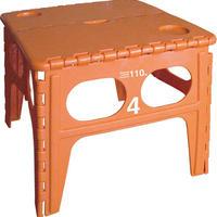 フォールディングテーブル 折りたたみテーブル 収納スマート オレンジ