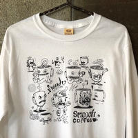 SMOOCH×EATCHO Long sleeve T-shirts 白white