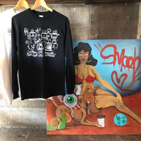【LIMITED】SMOOCH×EATCHO 2 Long sleeve T-shirts, 白黒2枚セット
