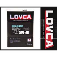 ラブカオイル LOVCA EURO-SPORT 5W-40 C3 4L