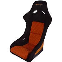 TETSUJIN スウェード調 フルバケットシート カラー:ブラック/オレンジ