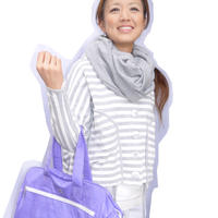 スウェット素材の快適スヌード・maricaBuスヌーディー【lady's薄手タイプ・グレー】