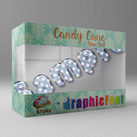 Candy Cane(Blue Dot)