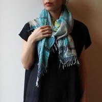 [tamaki niime 20SS-044 ] print shawl MIDDLE コットン100%