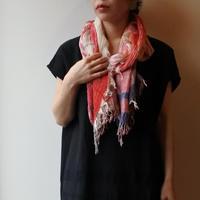 [tamaki niime 20SS-047 ] print shawl MIDDLE コットン100%