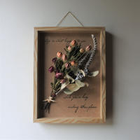 WOOD  FRAME  ART natural  botanical  arrange 001